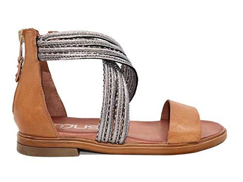 Mjus M05047 Sattel aus Edelstahl für Damen aus Leder, Braun - Leder - Größe: 37 EU