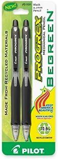 Pilot BeGreen ProGrex Mechanical Pencils, 0.7mm HB, 2-Pack (51191) 2-Pack Black