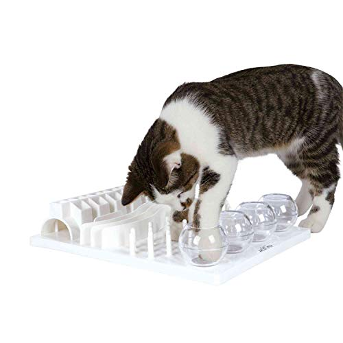 Trixie 4590 Cat Activity Fun Board, 30 × 40 cm, grau