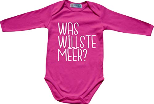 Shirtinstyle Body Manches Longues, Was Willste Mer ?, Babybody Grenouillère - Rose, 62-68