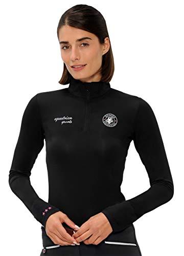 SPOOKS T Shirt für Damen Mädchen Kinder, Langarmshirt Tshirt Langarm - Sport Shirt Sophie - Black L