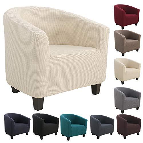 Souarts Sesselhussen Sesselbezug Stretch Elastisch Sofahusse Sofabezug Sesselschoner Couch Husse Sofaüberwurf (Beige)