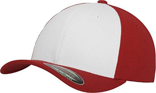 Flexfit Erwachsene Mütze Performance, Red/Wht, L/XL