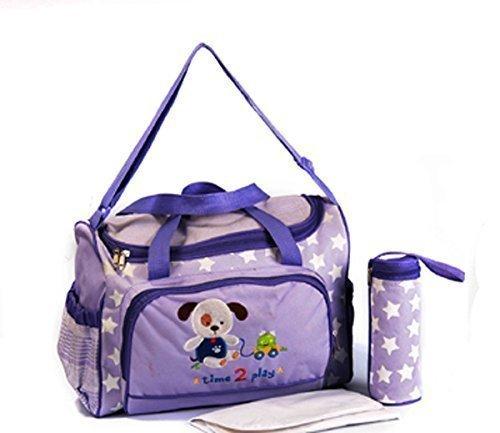 GMMH XXL 3 tlg Baby Farbe lila Wickeltasche Pflegetasche Windeltasche Babytasche Reise Farbauswahl