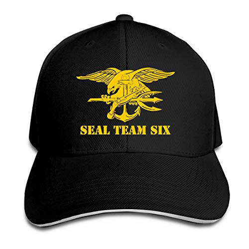 Us Navy Seal Team Six Adjustable Hat Baseball Cap Sandwich Cap Black