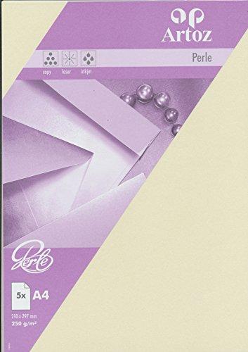 Artoz Papier AG - Perle Karte A4 ivory einfach 5er-Pack