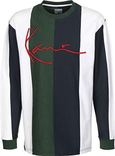 Karl Kani Signature Stripe Camiseta de Manga Larga Green/White/Navy/Red