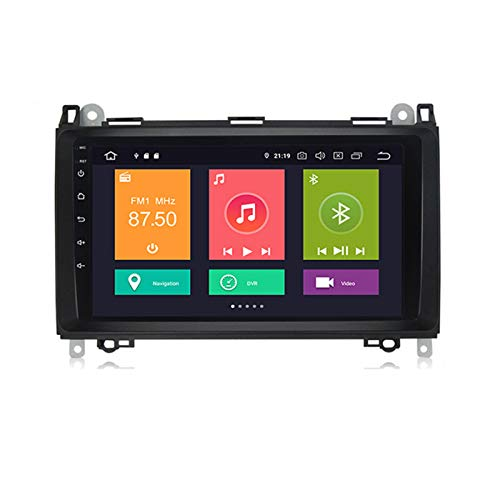 ADMLZQQ Android 10 Car Stereo Double DIN Head Unit para Benz B200 2002-2010 con Pantalla táctil de 9 Pulgadas Soporte Control del Volante DSP Carplay GPS FM Am RDS Car Radio MP5 Player,Px6,4+64