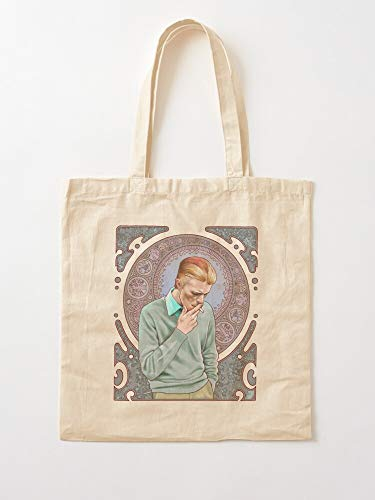 Blossom Alphonse David Bowie Mucha Nature Art Pattern Nouveau Canvas Tote Umhängetasche Stylish Shopping Casual Bag Faltbare Reisetasche