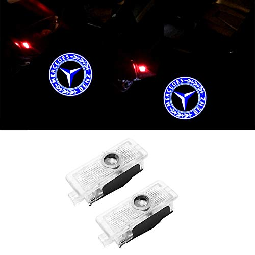 ZTMYZFSL 2 Stücke Auto Logo Projektion Projektor Tür geister Shadow Light Willkommen Lampe Licht (For CLA tree)