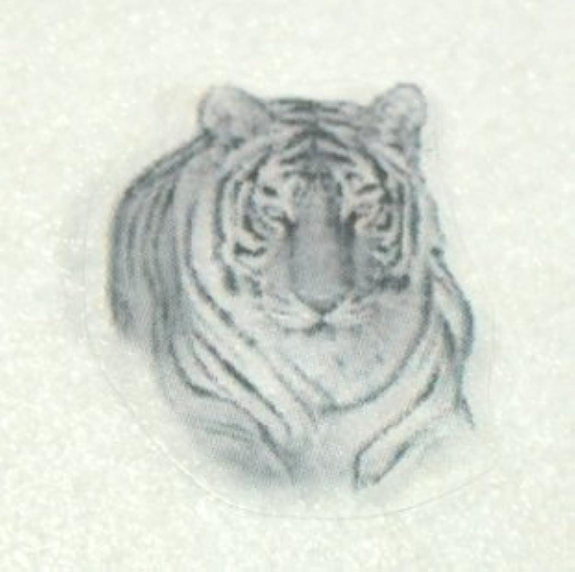協力的最も遠い放牧する動物【ネイルアートペイントシール】トラ?虎/1シート4枚入
