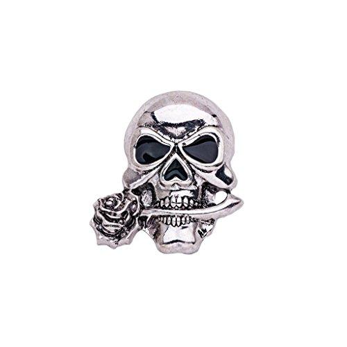 Brosche Nadel, Totenkopf Form, Geschenkidee für Halloween, Kleidung Schmuck - Silber