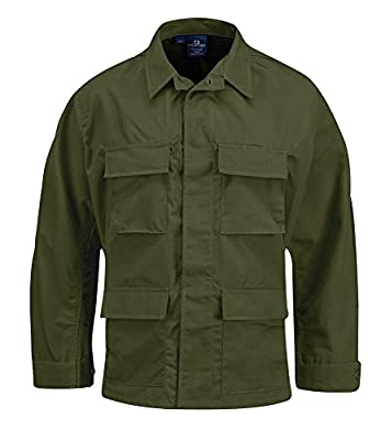 Propper Men's Bdu Coat - 100% Cotton, Olive, Large Long