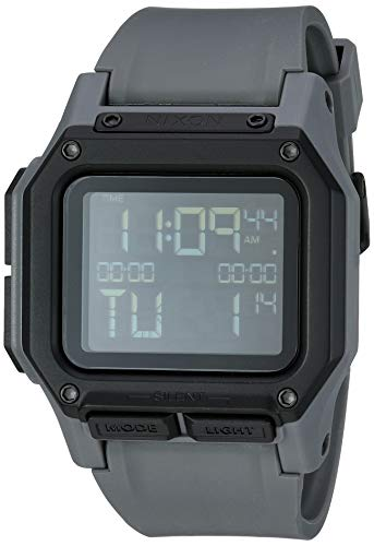 NIXON Regulus A1180 - All Gunmetal - 100m Water Resistant Men's Digital Sport Watch (46mm Watch Face, 29mm-24mm Pu/Rubber/Silicone Band)