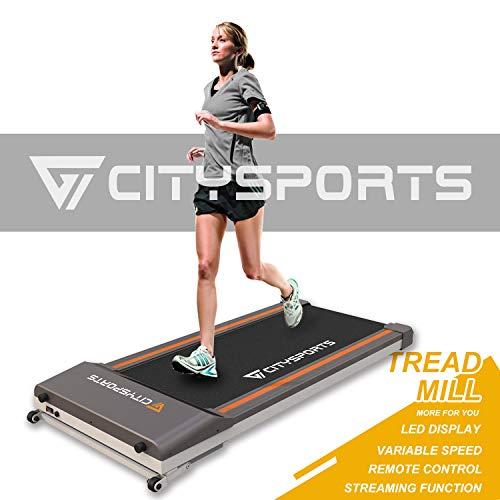 CITYSPORTS Mini-Laufband Falten, Büro/Heimfitness, Indoor Jogging elektrische Maschine 1-6 km/h, leicht zu bewegen und speichern (ZBJ01)