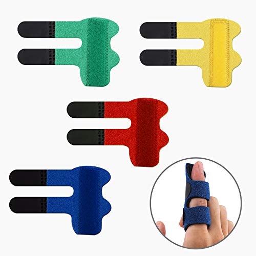 LUTER 4 Pzs Férulas para Dedos Enderezadora de Dedos Soporte para Dedos Soporte Estabilizador de Dedos para Dedos Rotos, Tensos, Torcidos, Hinchados, Artritis o Tendinitis