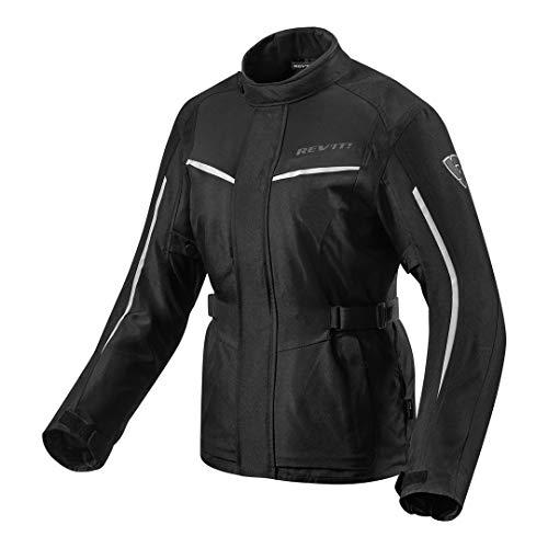 Revit Voltiac 2 Damen Motorrad Textiljacke Schwarz/Silber 36