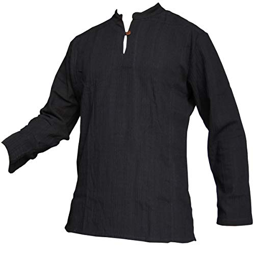 Fisherman Shirt BEN,black, L, longsleeve