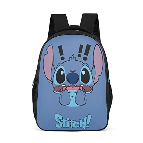 Stitch Women's&Men's Backpacks Boys Girls School Book Bags for College Work Bright Gray OneSize