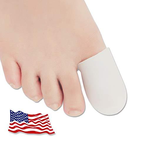 Protectores de dedos del pie, Protector Dedos Pie, Protector de dedo del pie de gel, para ampollas, maíz, uñas de los pies, pérdida de las uñas, alivio del dolor de fricción y mucho más(Blanco, M)