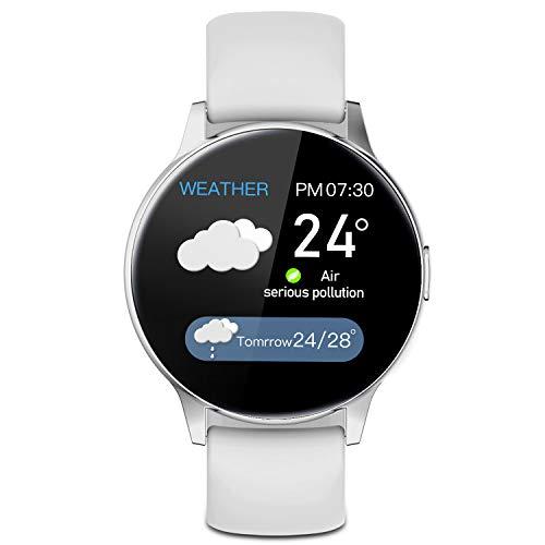Reloj inteligente de pulsera de fitness con 8 modos deportivos, cronómetro, podómetro, monitor de frecuencia cardíaca, IP67 resistente al agua, reloj inteligente para hombre y mujer, para Android, iSO