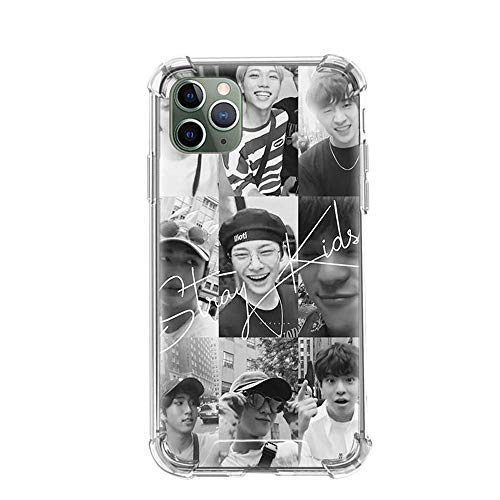 Tznzxm Str Kids KPOP Funda iPhone Airbag Anti-Fall Clear Soft Phone Cover Color_06 For Funda iPhone 7 Plus/Funda iPhone 8 Plus Cases