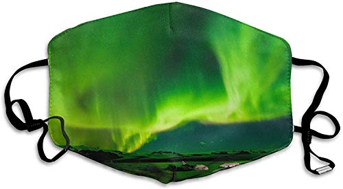 shifeiwanglu Unisex Mundmaske,Iceland Air Northern Lights,Fashion Earloop,Face Masks,AntimBacteria,Face and Nose Cover with Adjustable Elastic Strap,Medical Mask