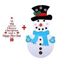Safe & Durable: L'albero di Natale è fatto di feltro denso e robusto. Questo albero di Natale per bambini è durevole, resistente allo sporcizia, morbido,portatile e sicuro, e non danneggerà i bambini. Dimensione & Imballaggio: 1 pezzo di 70-100cm fel...