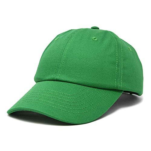 DALIX Youth Childrens Baseball Cap Cotton Hat Boys Girls in Kelly Green