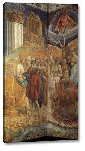 """The Martyrdom of St Stephen by Fra Filippo Lippi - 9"""" x 16"""" Gallery Wrap Canvas Art Print - Ready to Hang"""