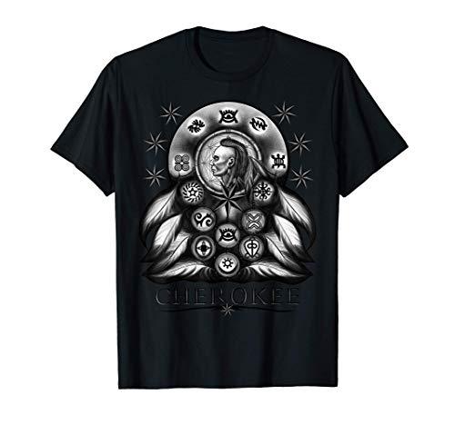 Atrapasueños Guerrero Nativo Americano Indio Cherokee Camiseta