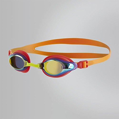 Speedo-Junior Goggles-Mariner Supreme Mirror Junior Goggle-Orange-