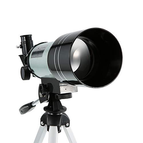 Telescopio, telescopio del refractor de la astronomía 150X HD monocular, alcance de la detección del recorrido con la palanca portable del trípode para Observe la estrella/la luna/Saturno/Júpiter-azul