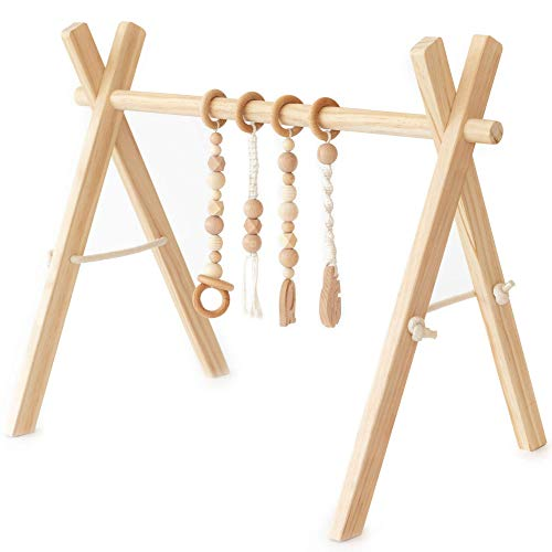 Little Pine Design Co.'s Wooden Baby Play Gym