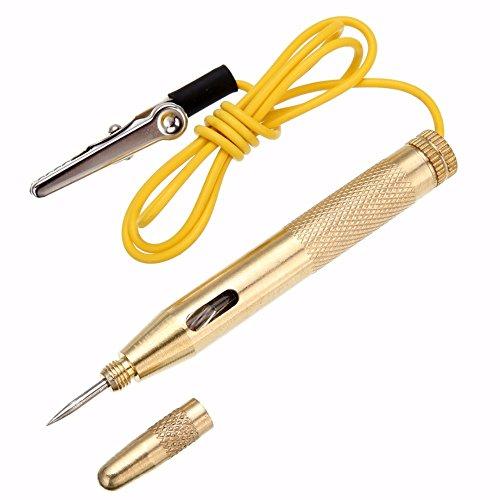 Haobase - Tester di tensione con strumento penna per auto o camion DC 6 V/12 V/24 V, per test circuito elettrico
