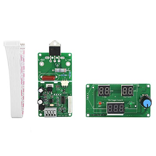 Módulo de control de tiempo de la soldadora por puntos, placa controladora de pantalla digital Voltaje de suministro de 9-12 VCA para bricolaje o soldador de batería simple(40A)