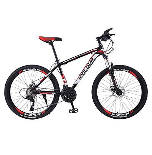 Bicicleta de montaña para Adultos con desviador de Rueda Bicicleta de Marco de Aluminio Resistente y Liviana con Frenos de Disco Dobles de 21 velocidades y 3 radios Horquilla(Size:26in)