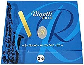 Rigotti Gold Alto Saxophone Reeds - Bb - 3 Pack - Reed Size 2.5