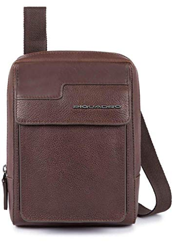 Piquadro - Organized Crossbody Bag with IpadMini Compartment Wostok - Ca3084w95, Testa di Moro