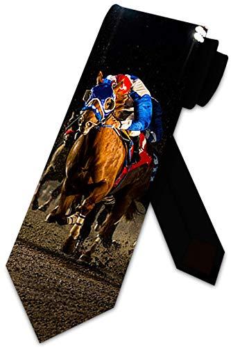 Animal Ties Corbata de jockey de carreras de caballos para hombre de Three Rooker