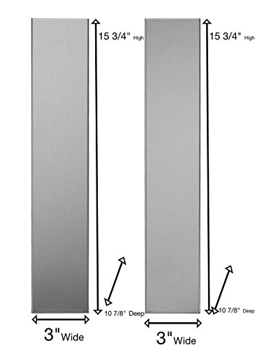 """Universal Stainless Steel Over the Range L Shaped Microwave Fill Filler Kit - Fills a 36"""" Wide by 15-3/4"""" Tall Spot MF3-SS"""