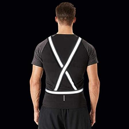Dresbe Reflective Vest Gear Unisex Warning Vests Adjustable Laser Safety Band for Night Running Cycling Jogging Walking