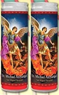 Concord Import 810848 Candles 8In San Miguel Archangel White