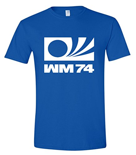 WM74 1974 West Germany Football World Cup Mens T-Shirt (Large) Royal Blue