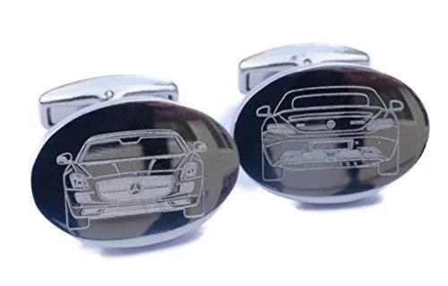 Auf Bestellung Angefertig Auto Manschettenknöpfe - Form von Ihr Auto Graviert laufend Premium Qualität Manschettenknöpfe - Mercedes Benz