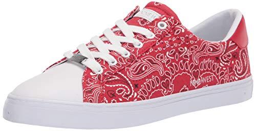 NINE WEST Women's Best Sneaker, Red, 9