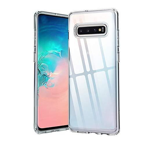 Whew Crystal Clear Kompatibel mit Samsung Galaxy S10 Hülle Ultra Dünn Durchsichtige Transparent Anti-Gelb Samsung S10 Handyhülle Anti-Fingerabdruck Anti-Kratzer Schutzhülle für Samsung Galaxy S10