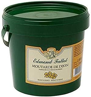 Edmond Fallot Dijon Mustard 2lb (32 oz Pail) Best-selling Dijon Mustard, Product of France