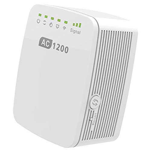 MHOLR WiFi Repeater 1200Mbps Wireless WiFi Router Range Extender Access Point 2.4...