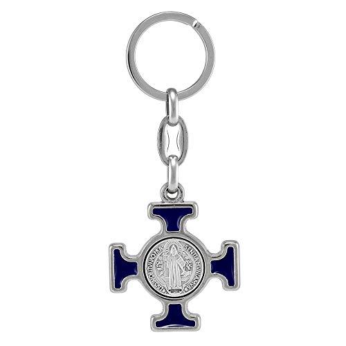 RosaryMart Celtic Cross Keychain St Benedict